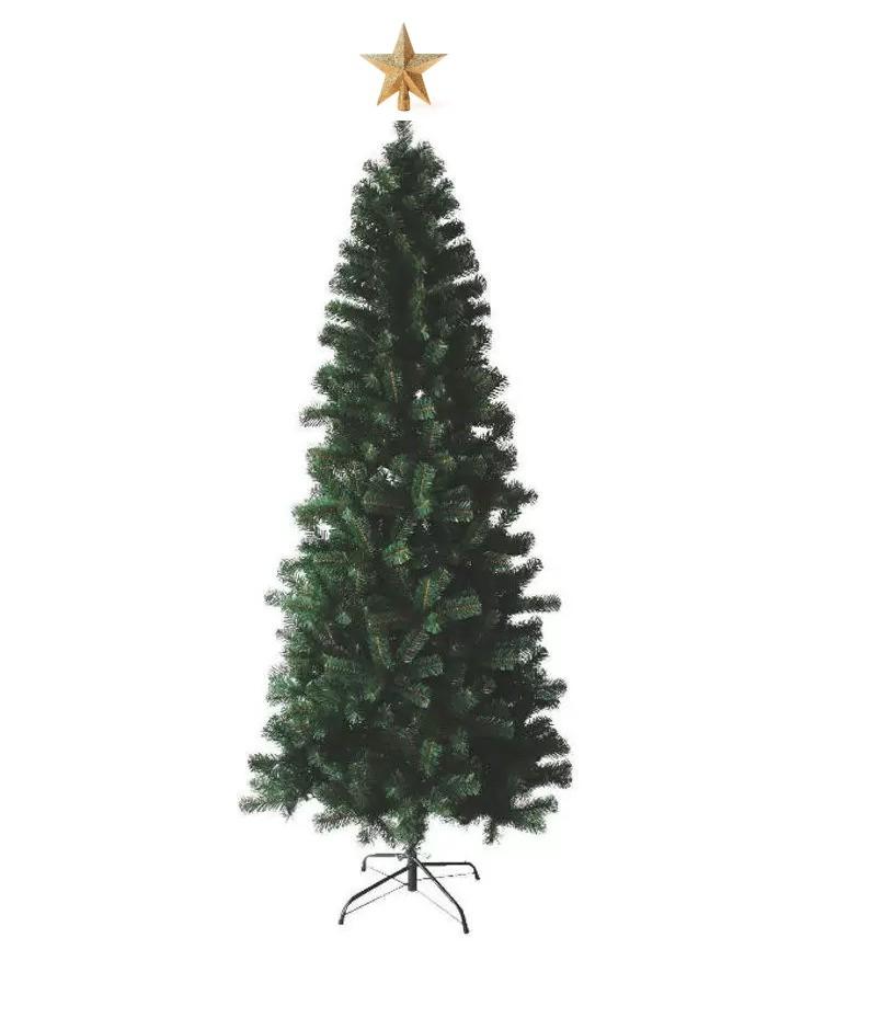 Árvore Natal Slim Verde 180cm 622 Galhos + Ponteira Magizi
