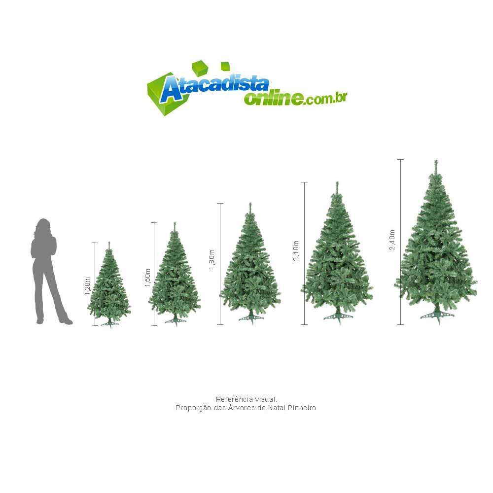 Árvore Natal Pinheiro Suiço Din 1,50m 345 G. + Brinde Magizi