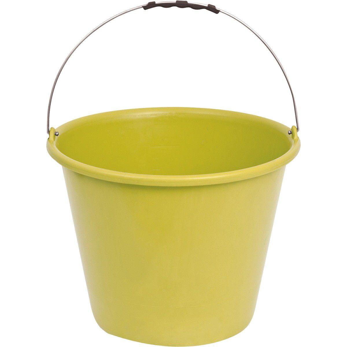 Balde Concreto Plastico 12L S/ Pega Amarelo Terraplast Sc/12
