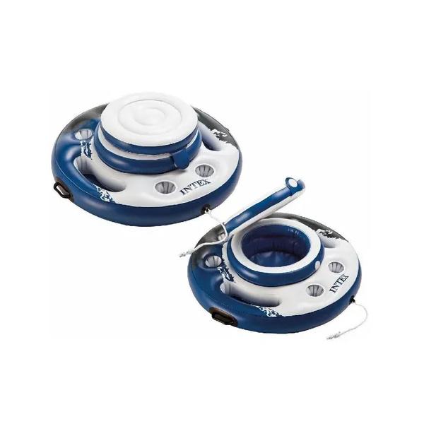 Bar Cooler Flutuante 15 L 24 Latas 6 Copos Inflável Intex