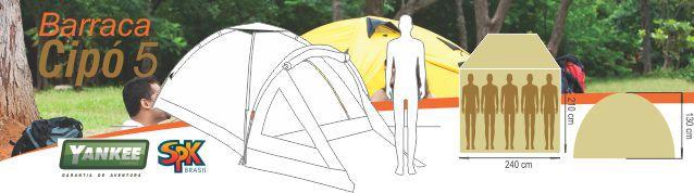 Barraca Camping Cipó C/ Varanda 4 Pessoas Azul Yankee Oper