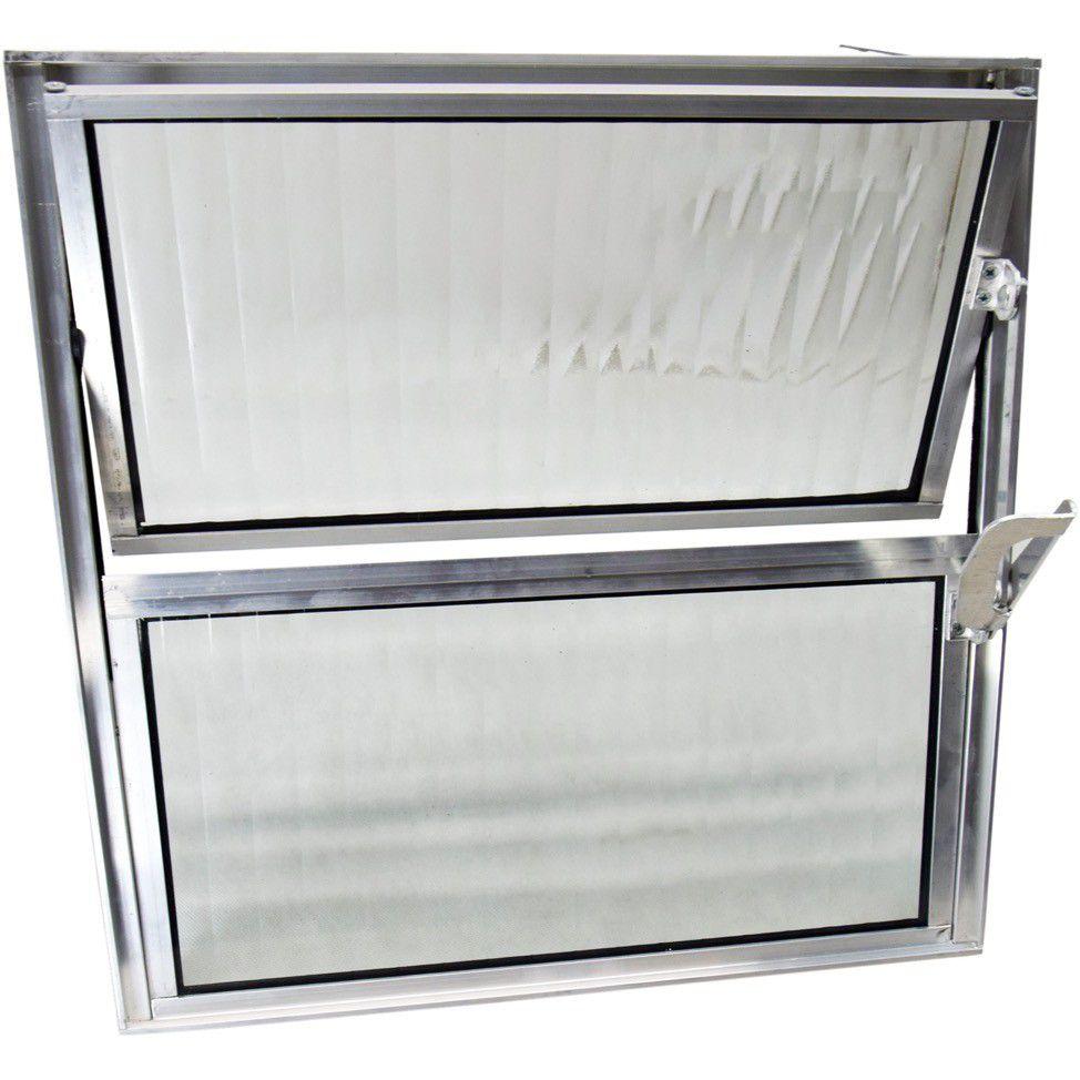 Basculante Aluminio 40X40 2Folhas Habitec
