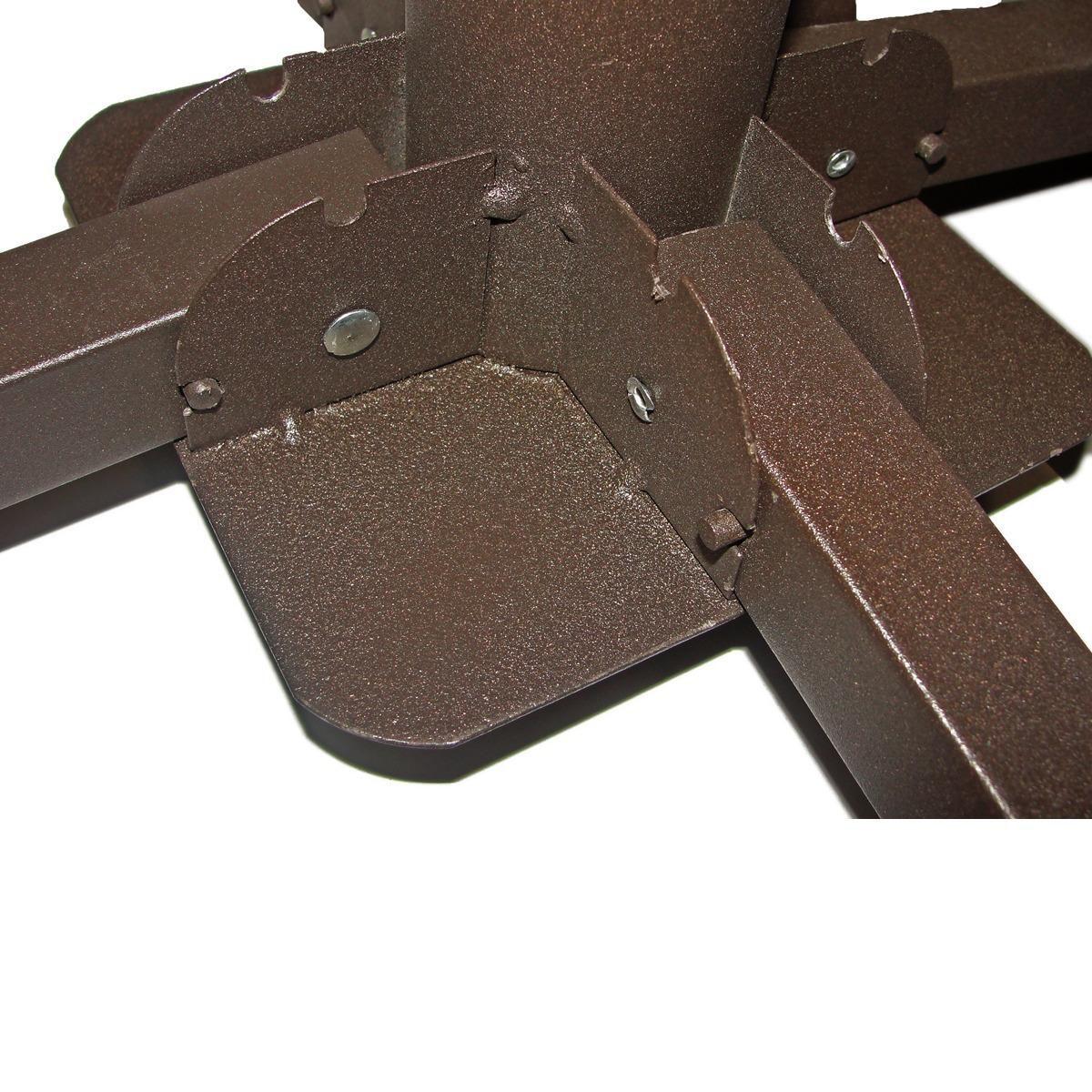 4 Base Metal Dobrável Guarda Sol Ombrelone Até 54mm Mor