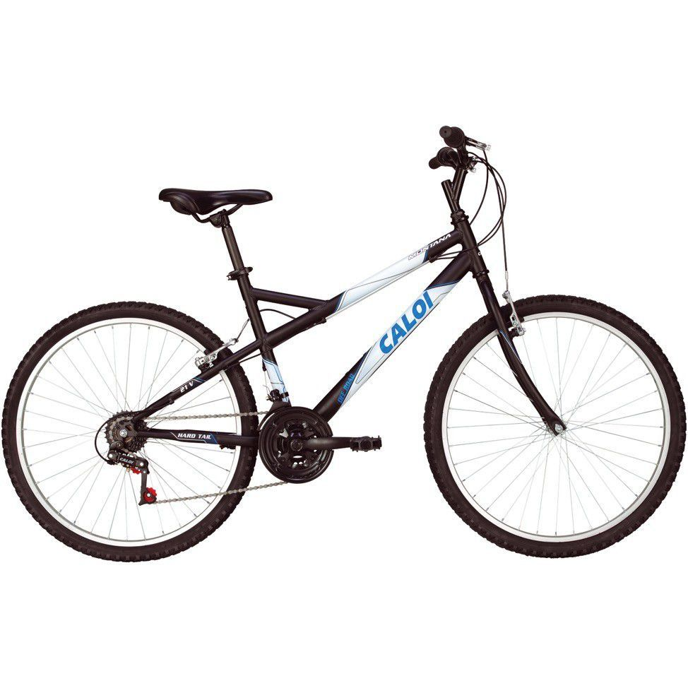 Bicicleta Mountain Bike 21M Montana Preto Fosco Caloi Unisex