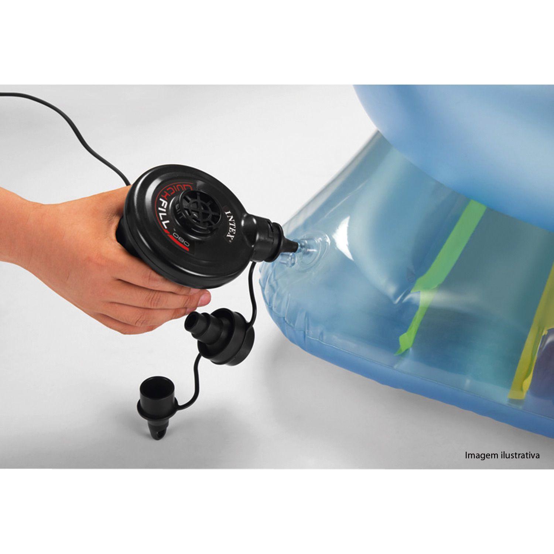 Bomba Ar Elétrica Portátio 12 V Isqueiro Quick Fill Intex