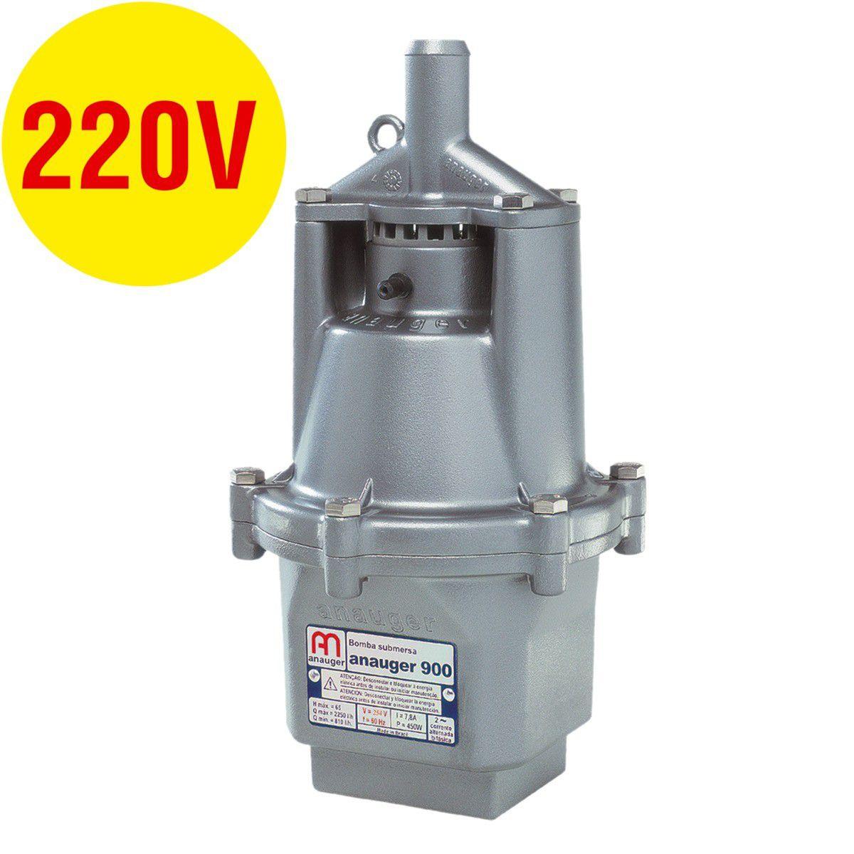 Bomba Submersa Anauger 900 450W 65Mt 220V