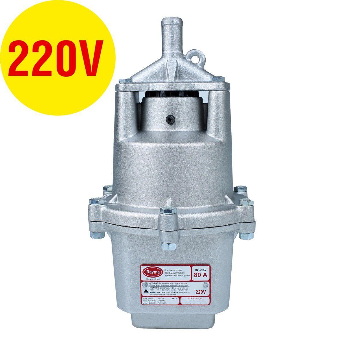 Bomba Submersa Rayma 80-A 60Mt 220V