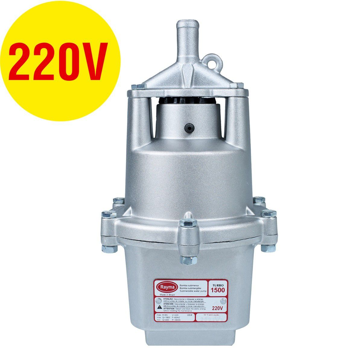 Bomba Submersa Rayma Turbo 1500 70Mt 220V