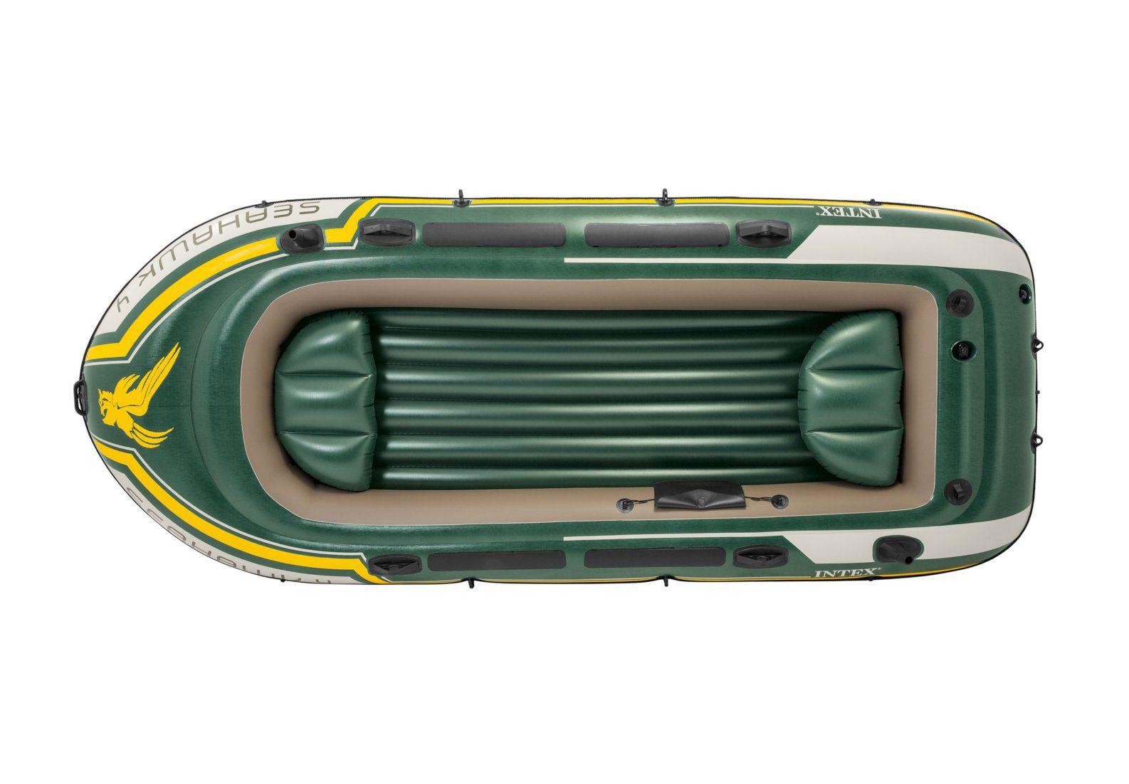 Bote Canoa Inflável SeaHawk  400 + Remo Fole  Intex #68351
