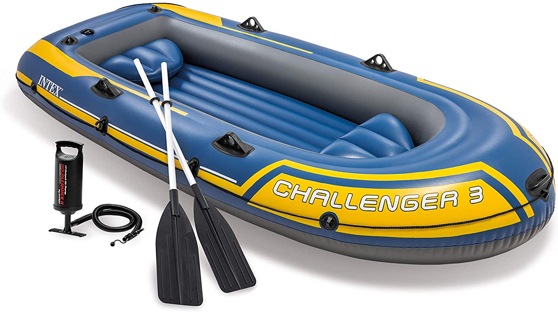 Bote Intex Challenger 300Kg c/ Remo e Inflador 2,95m N3