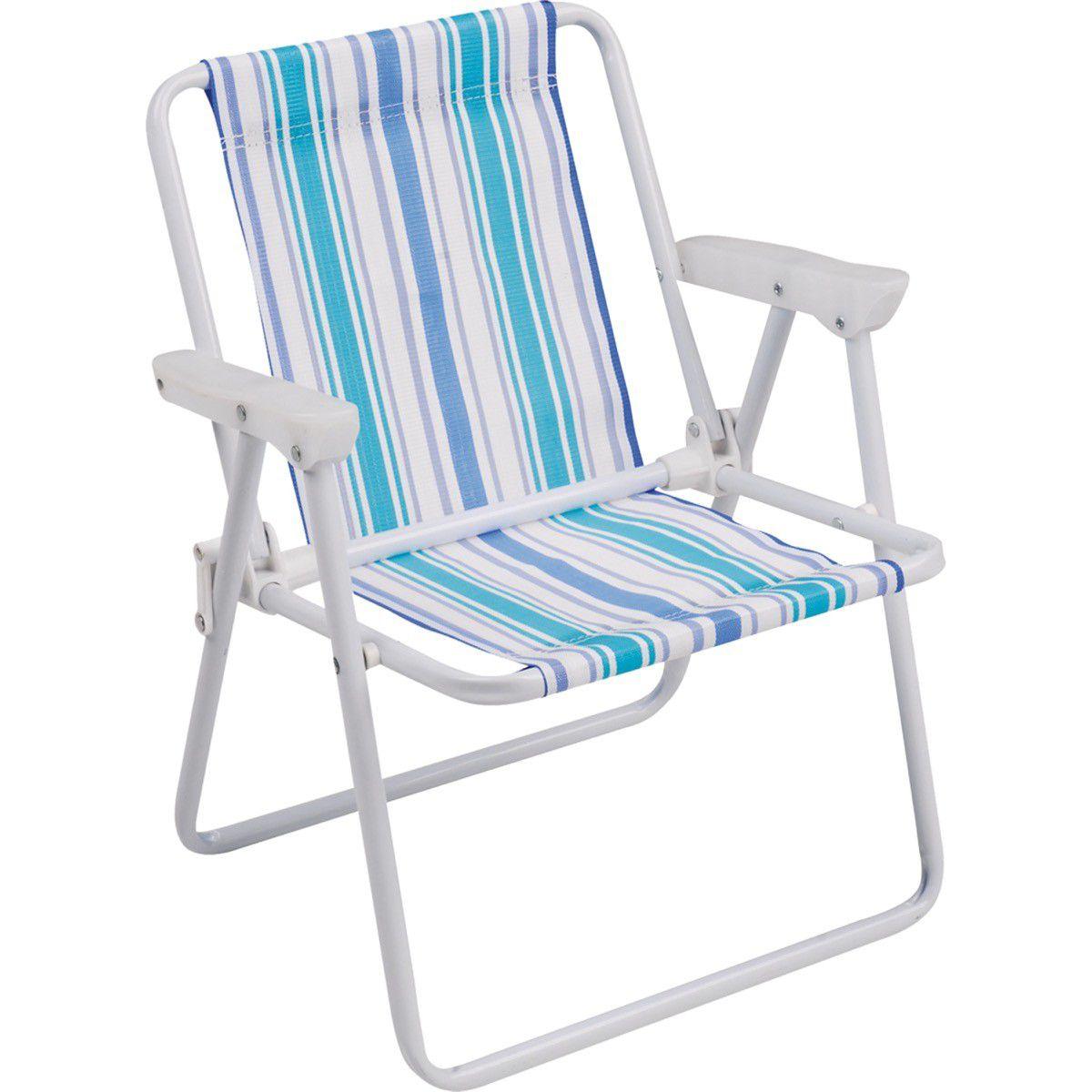 Cadeira De Praia Aco Alta Adulto Mor