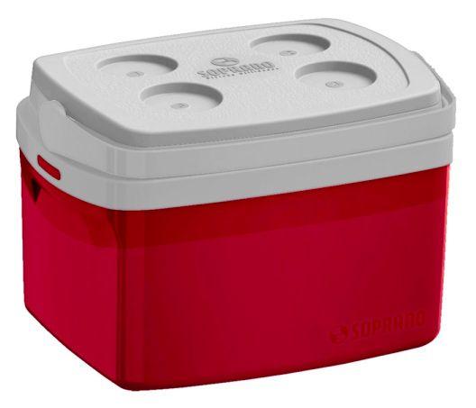 Caixa Termica 12L Vermelha Soprano