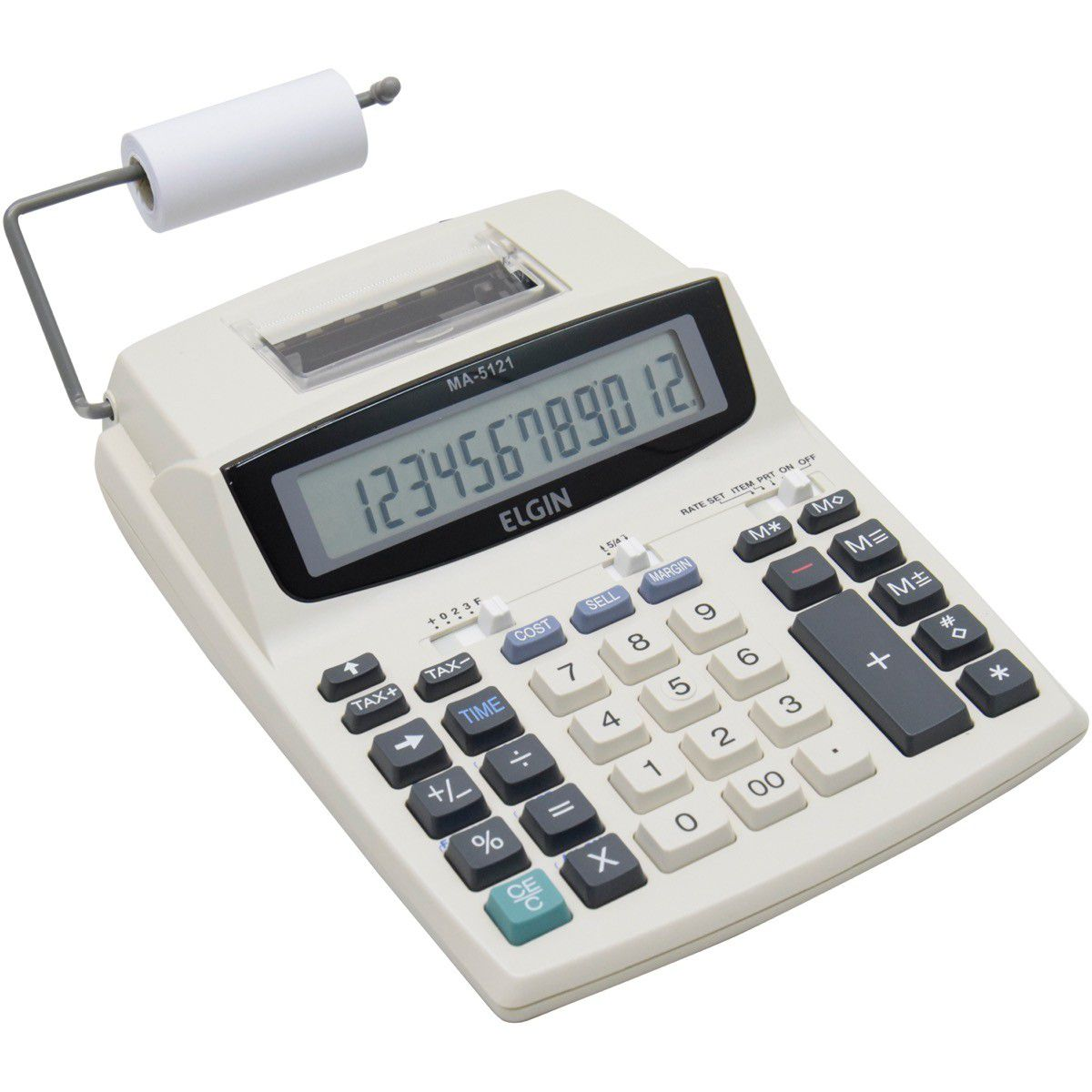 Calculadora Eletronica De Mesa C/Bobina C/Adaptador Elgin