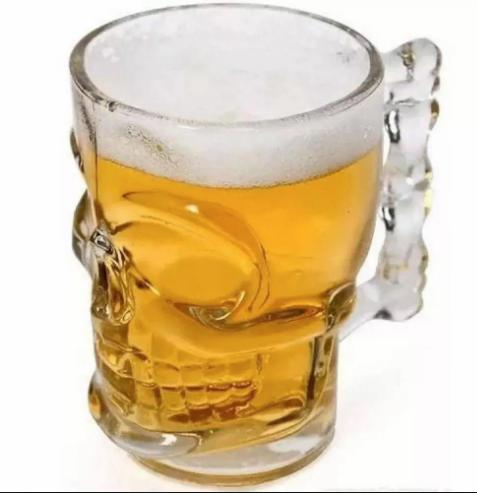 Caneca Chopp Cerveja Caveira 540ml yvc10 Vitrizi