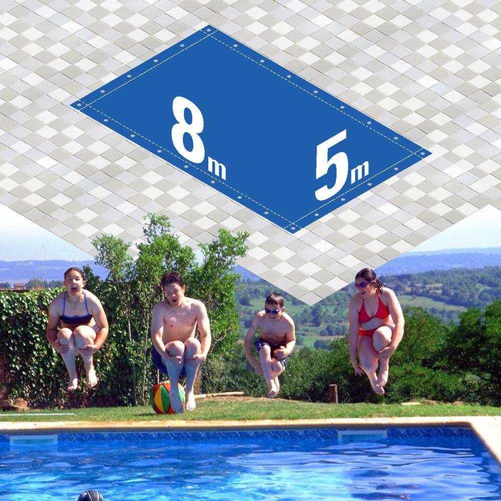 Capa Piscina 5x8 m (8x5) Dreno 26 Pinos 300 Micra CapaKit