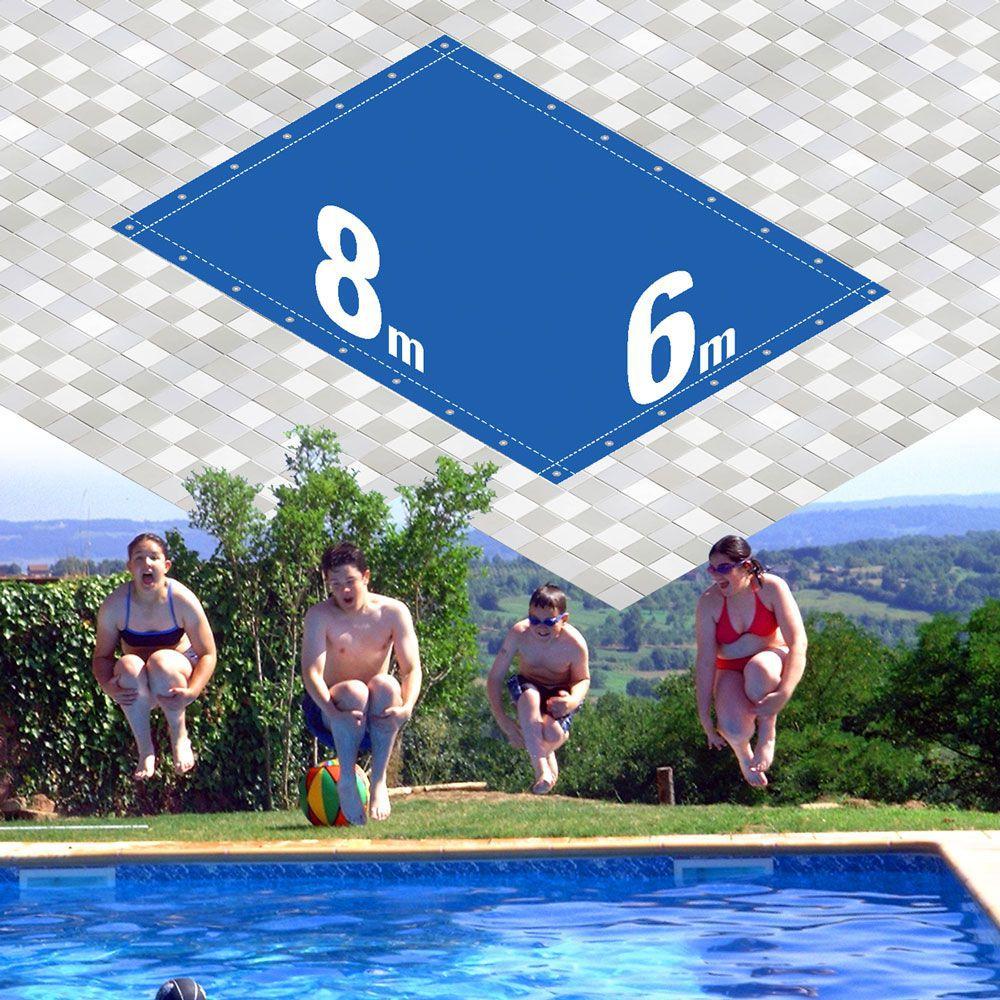 Capa Piscina 6x8 m (8x6) Dreno 28 Pinos 300 Micra CapaKit