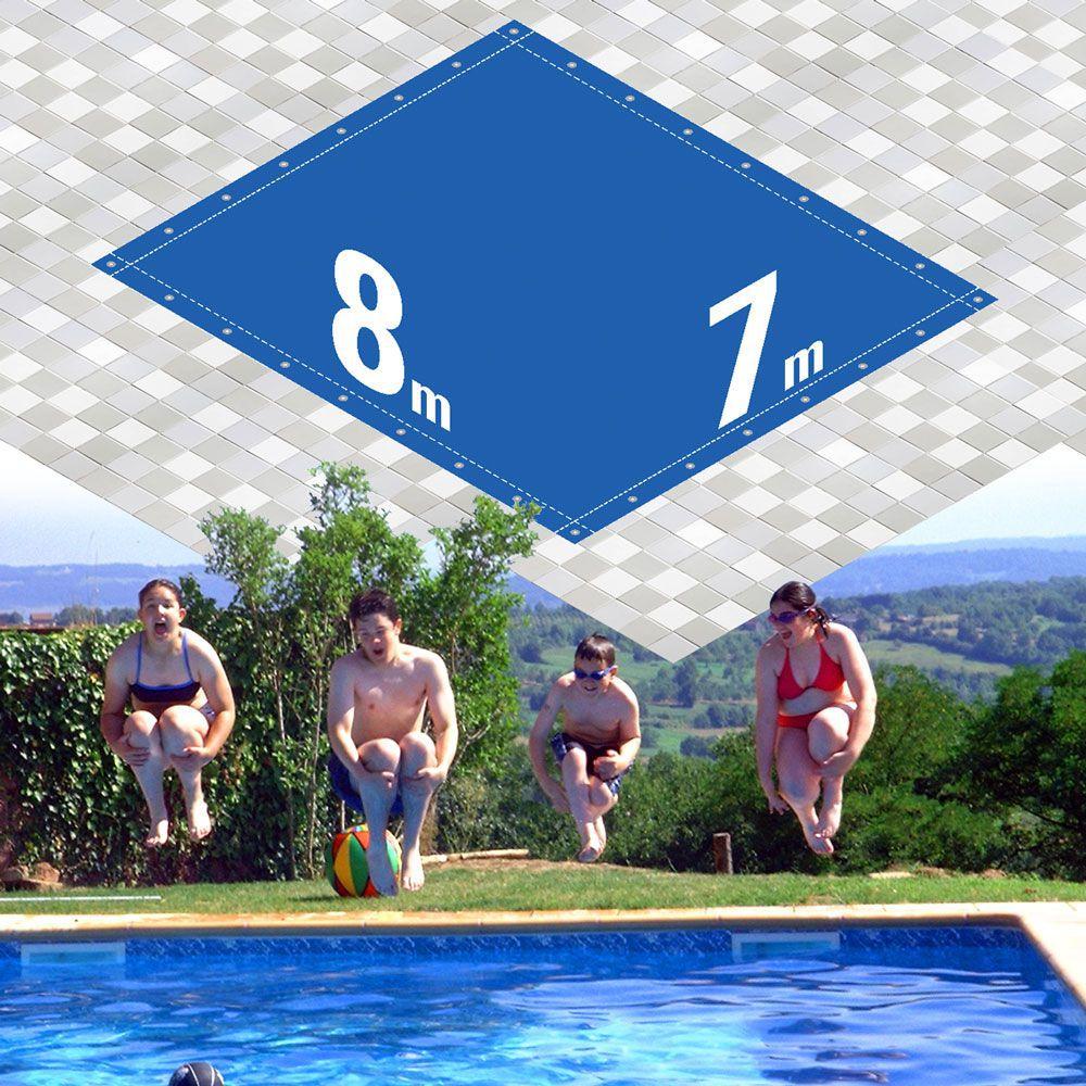 Capa Piscina 7x8 m (8x7) Dreno 30 Pinos 300 Micra CapaKit
