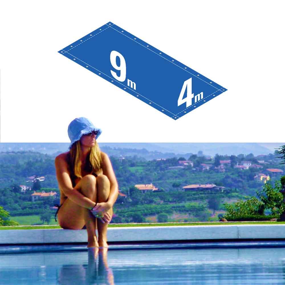 Capa Piscina 4x9 m (9x4) Dreno 26 Pinos 300 Micra CapaKit