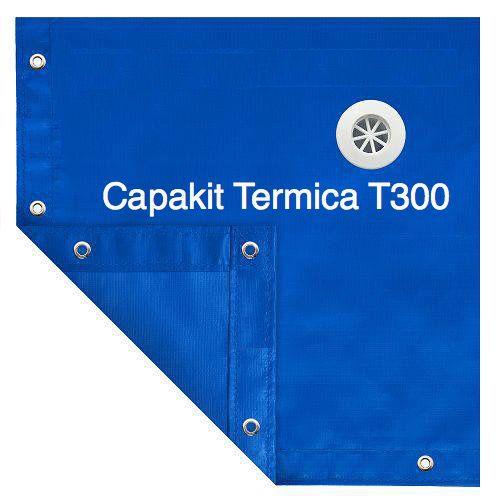Capa Piscina Termica 4,5x8,5m Dreno 50 Pinos T300 CapaKit