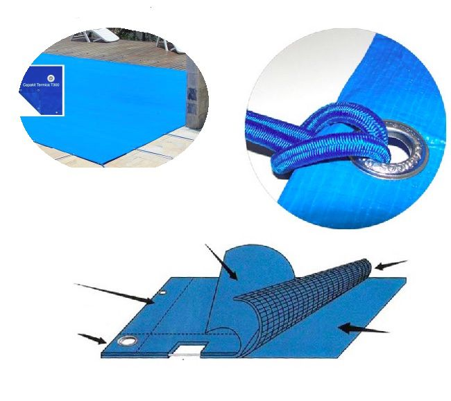 Capa Piscina Termica 3x6 (6x3) Dreno 36 Pinos T300 CapaKit