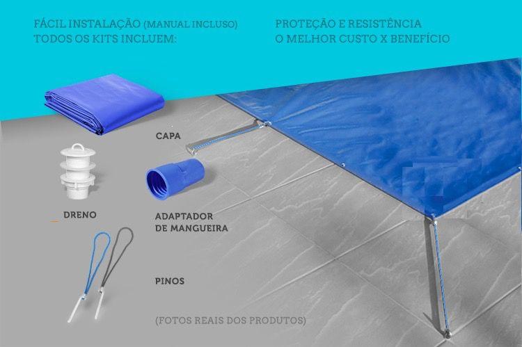 Capa Piscina Termica 3x7 m (7x3) Dreno 40 Pinos T300 CapaKit