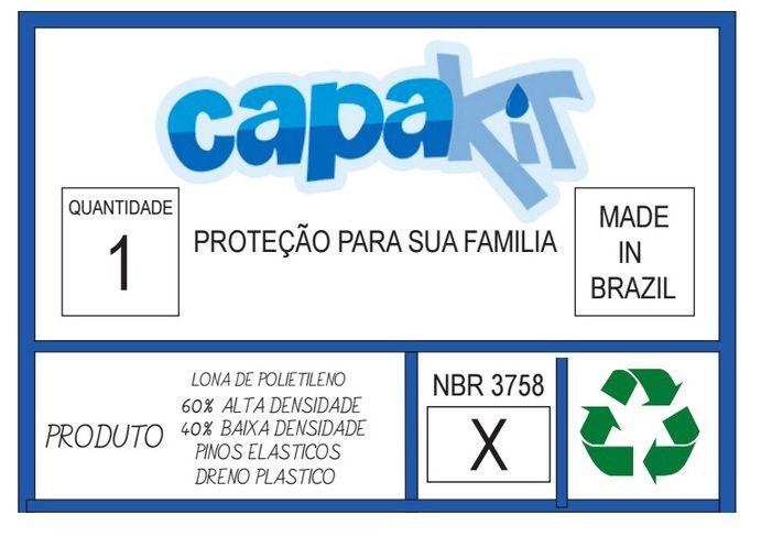 Capa Piscina Temica 4x7 (7x4) Dreno 44 Pinos T300 CapaKit