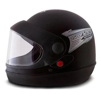 Capacete Sport Moto Automatico Tam. 56 Preto Pro Tork