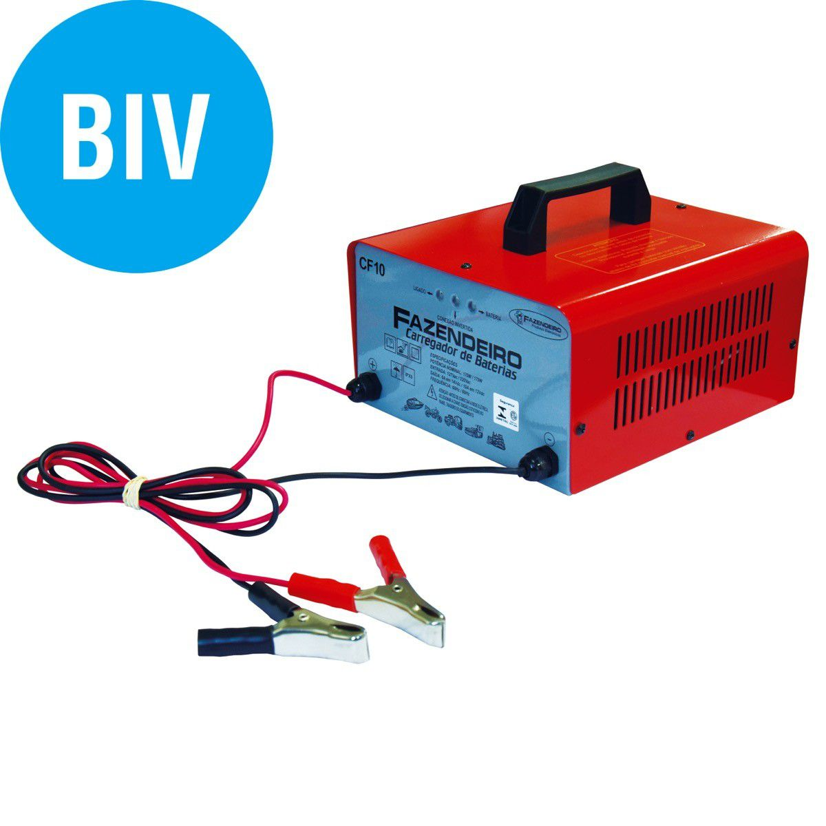 Carregador Bateria Fazendeiro Cf10 12V 10A Bivolt