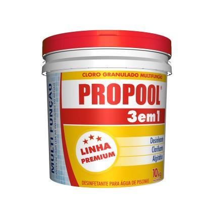 Cloro Piscina Estabilizador Propool 3 em 1 Embalagem 10 kg.