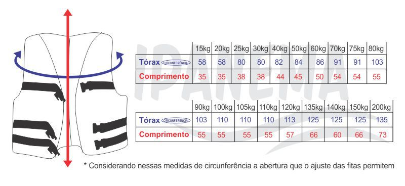 Colete Salva Vidas ate  100kg G Cores Sortidas Motonautica