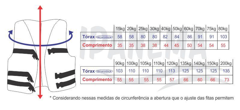 Colete Salva Vidas ate  90kg G Cores Sortidas - Motonautica