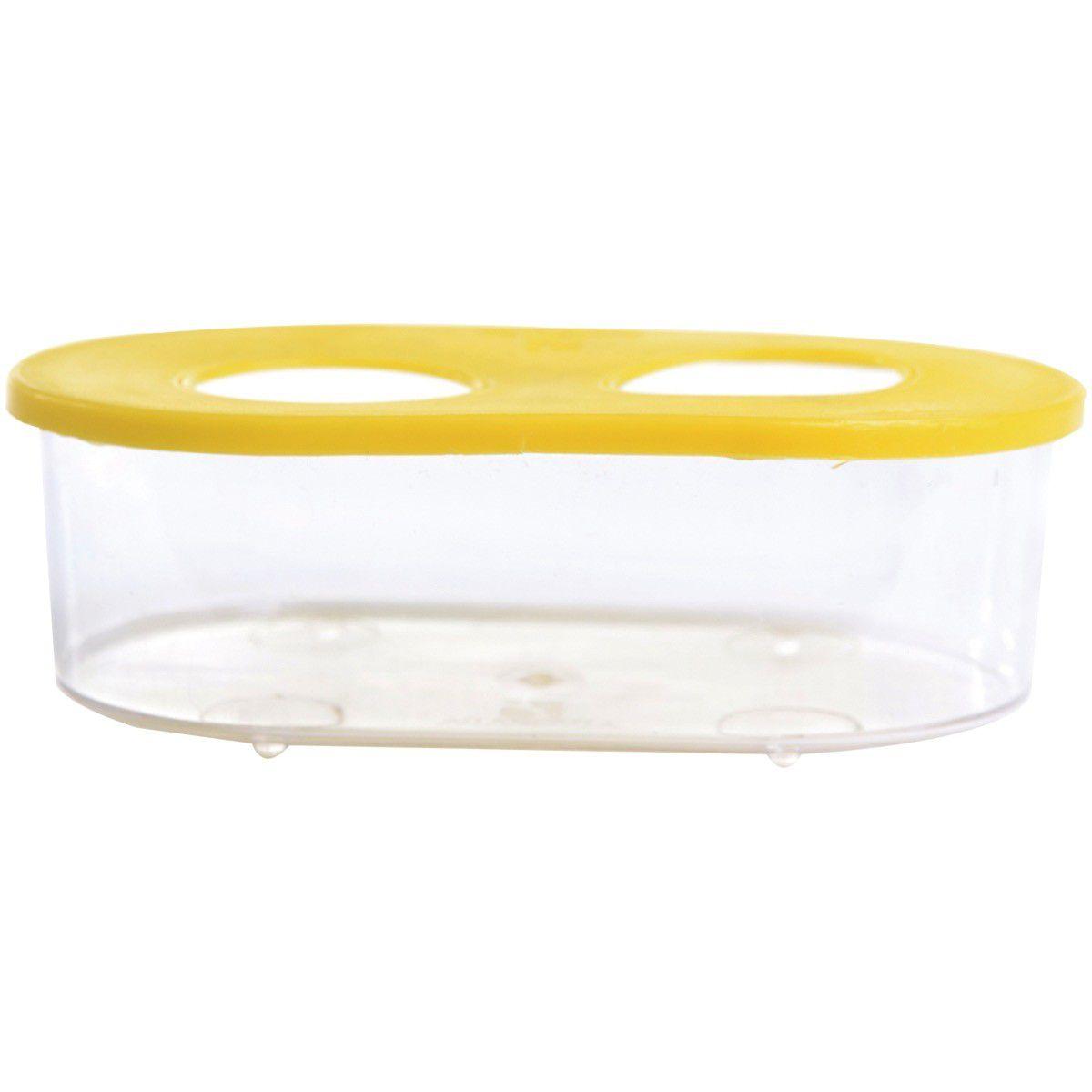 Comedouro Cristal 360Ml 2Furos Alvorada Pet Cx/30
