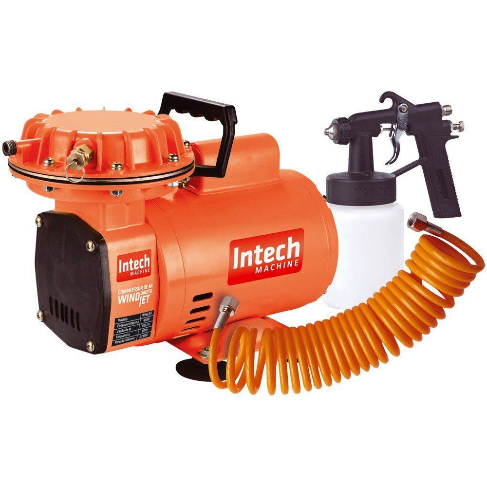 Compressor Ar Direto Wind Jet Bivolt Intech Machine