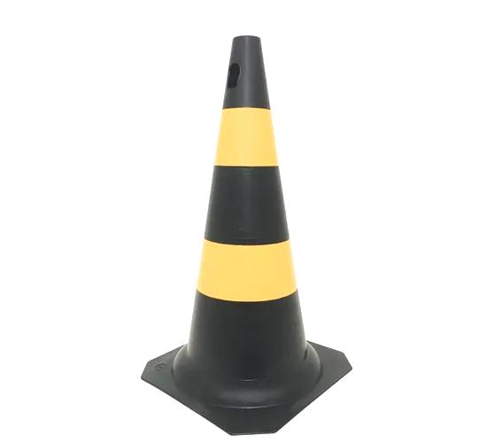 Kit 5 Cones Sinalização 50cm Rígido Preto ou Laranja Kteli