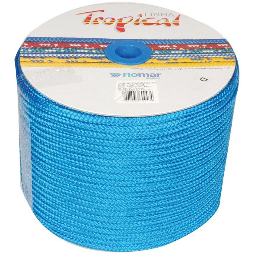 Corda Pp Tropical 10Mm Azul Riomar