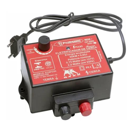 Eletrificador Cerca Rural 50Km c/ Cadencia Bivolt Fazendeiro