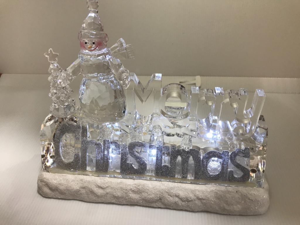 Enfeite de Natal Merry Christas Acrílico 24cm Natalia Chist