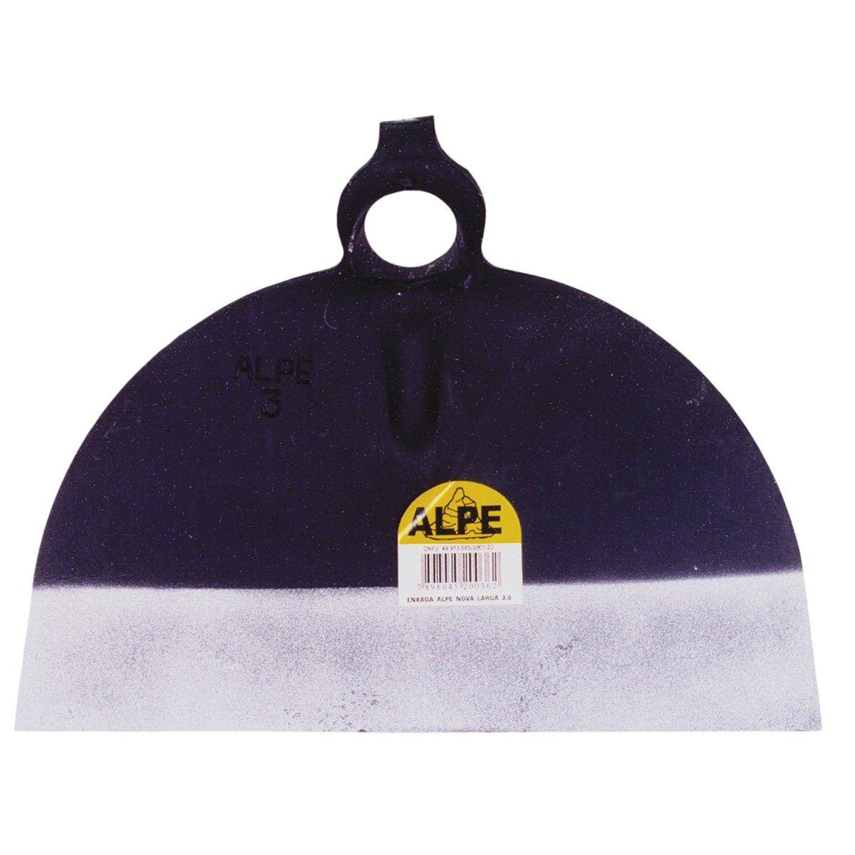 Enxada Alpe Nova S/ Solda 3,0 Libras Larga Cx/6