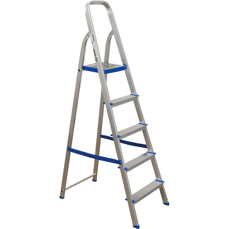 Escada de Alumínio 5 Degraus 120Kg - 5103 M Mor
