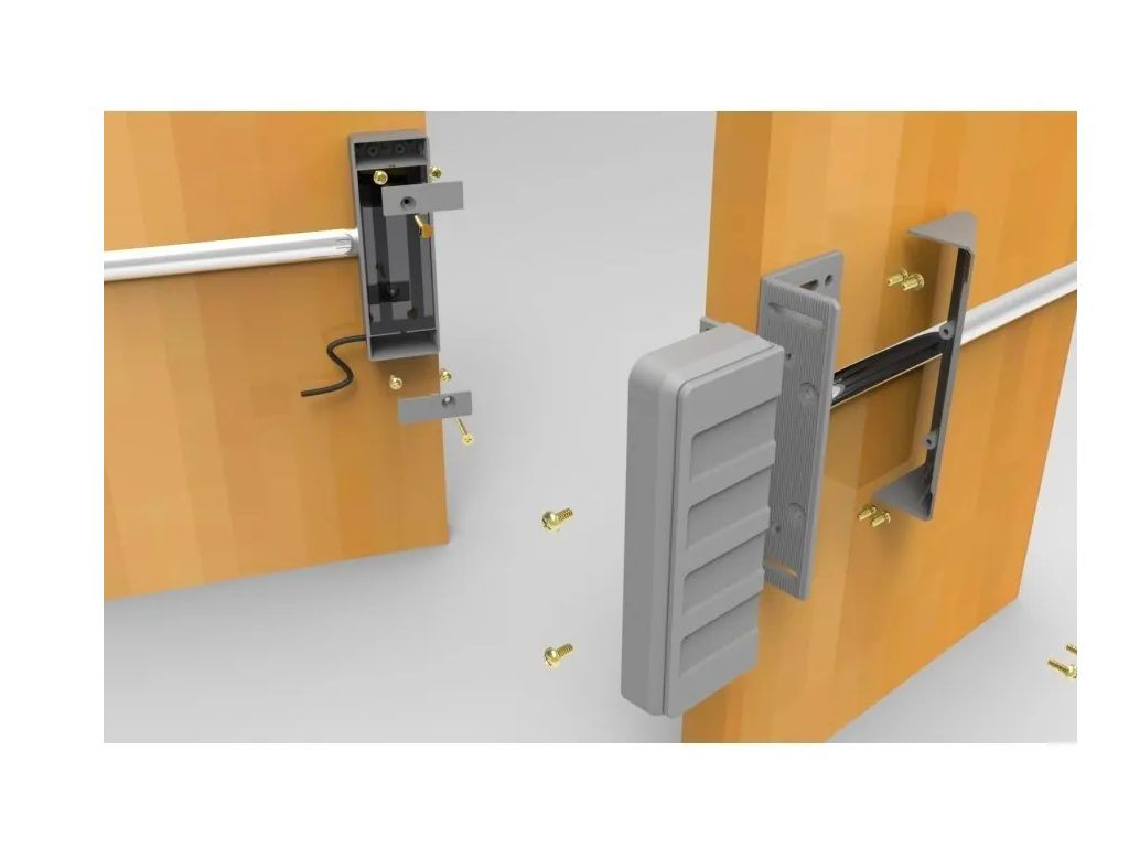 Fechadura Eletrica Eletroímã 12v AL150  Porta Vidro Agl
