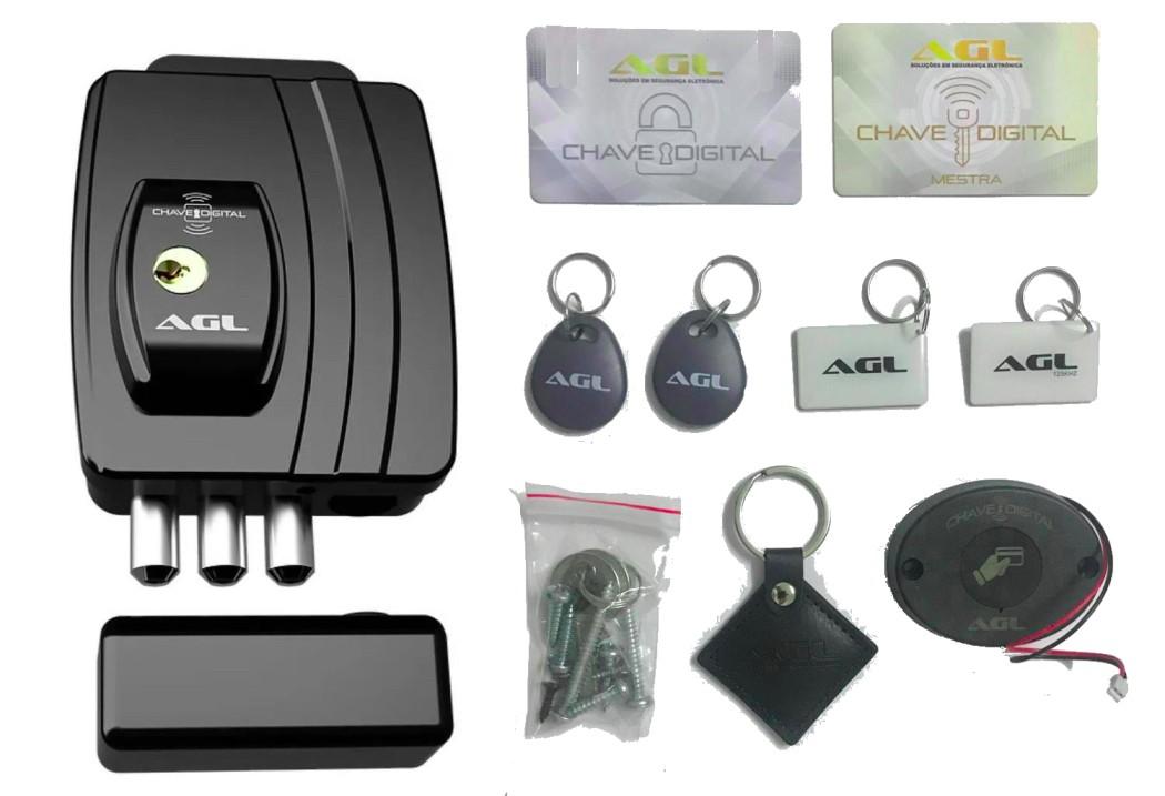 Fechadura Eletrica Eletronica Ultra Card 42mm Bivolt Agl