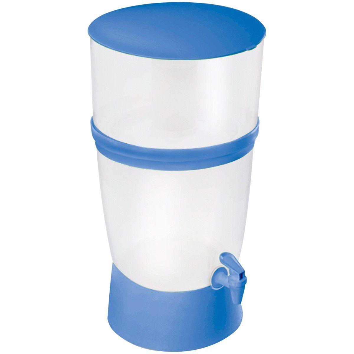 Filtro Plastico Seleto 167 Azul 10L Cx/6