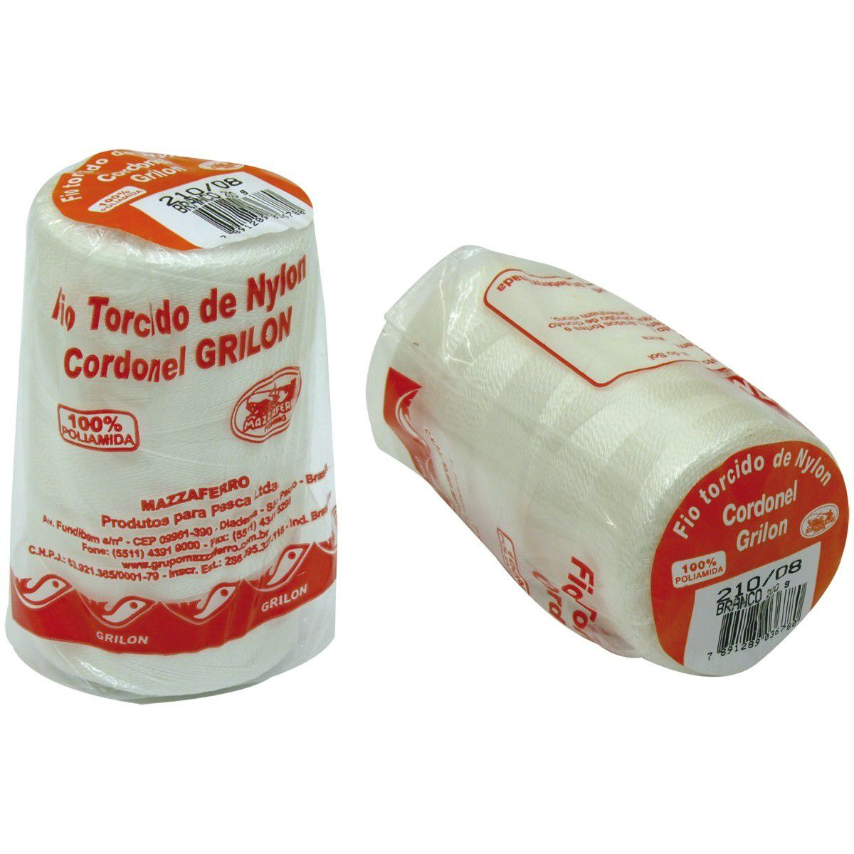 Fio Nylon Torcido 1260M Grilon 200Gr 210/06