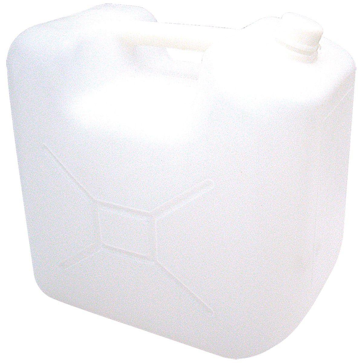 Galao Bombona Virgem 20L Branco c/ Lacre Plastikero