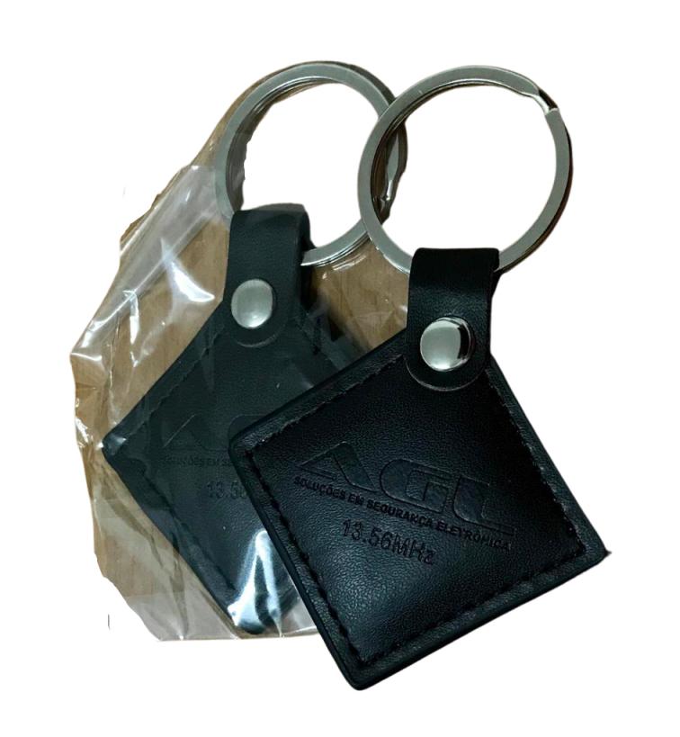 Kit 100 Chave Aproximação Tag Couro SmartX ou UltraCard AGL
