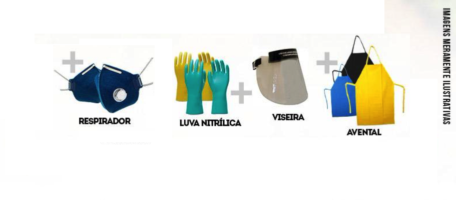 Kit Agrotóxico 50 Aplicações G Mascara Filtro - ProtSpray