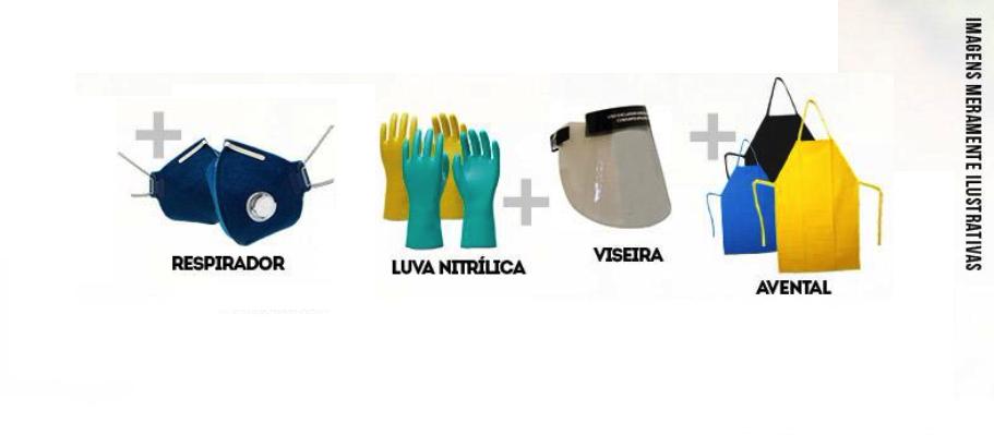 Kit Agrotóxico 50 Aplicações G G Mascara Filtro - ProtSpray