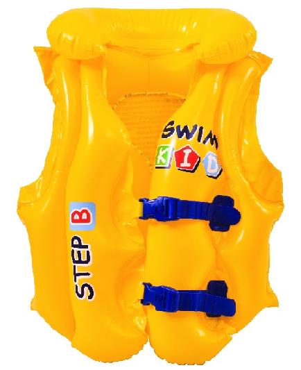 Kit 2 Bola De Praia 61cm Intex + 2 Colete Inflável 30kg Briz