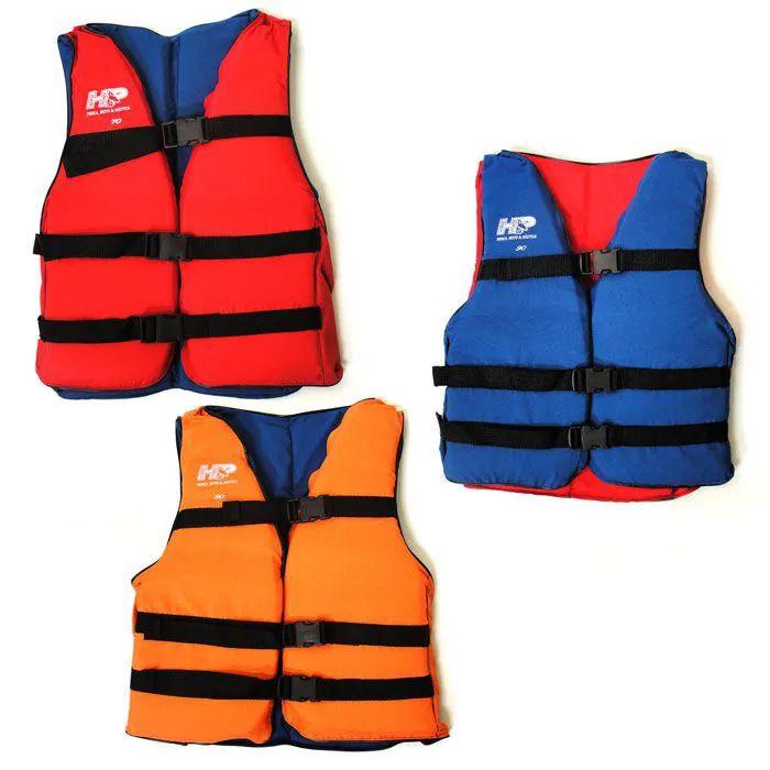 Kit 3 Coletes Salva Vida 50 a 150 Kg 3 Fivelas + Trava Perna