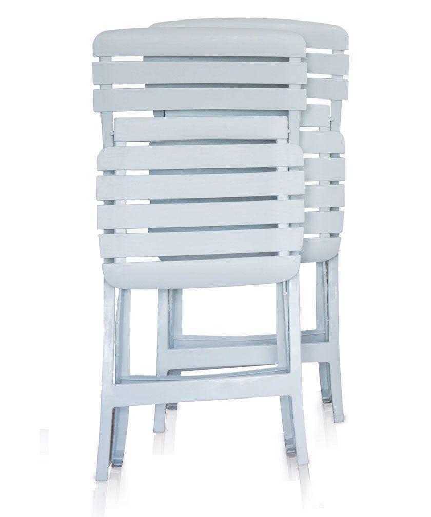 Kit 3 Mesa 12 Cadeiras Bar Dobraveis Plastico Antares